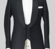 Midnight Blue Mohair and Wool 3pc Dinner Suit