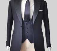 Midnight Blue Tuxedo with Waistcoat