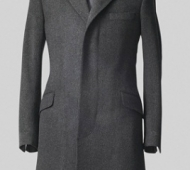Charcoal Grey Cashmere Overcoat